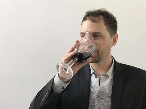 Contoured Wine Chalices - The Wine Glass Mask Accentuates the Aromas of Wine