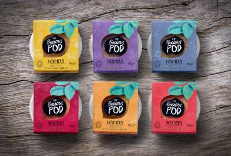 Authentic Organic Hummus Pots - Precious Pod's Branding Emphasizes a Focus on Fresh Flavors