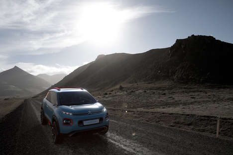 LED-Mounted Concept Cars - The Citroen C-Aircross Hints at the French Automaker's Design Future