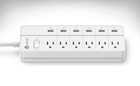 Circuit-Protected Power Bars - The iClever 'BoostStrip' Surge Protector Power Strip is Efficient