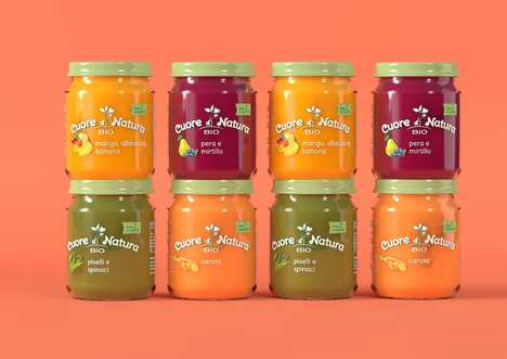 Additive-Free Baby Foods - The Brand 'Cuore di Natura' Offers Nutritious Baby Food Products