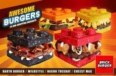 Toy Brick Burgers - The Brick Burger Restaurant Has Created LEGO-Themed Burgers