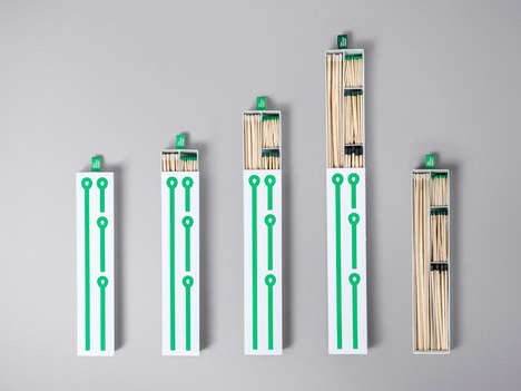 Varied Matchstick Sets - This Match Box Features Different Sizes for Different Functions