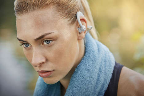Secure Workout Headphones - The Denon AH-C160W Headphones are Designed for Sports and Activities