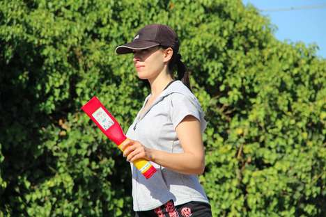 Encouraging Running Batons - This Running Device Cheers Athletes on to Keep Their Spirits Up