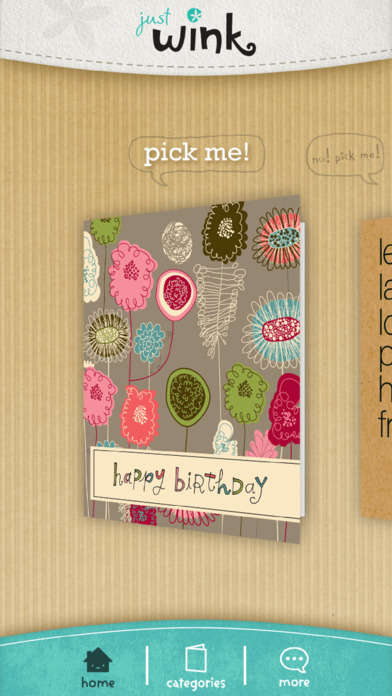 Digital Greeting Card Apps - 'justWink' Helps People Conveniently Send Cards Via Social Media
