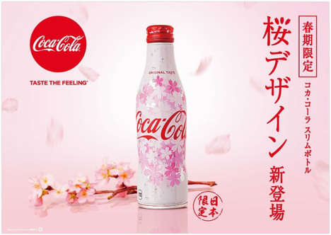 Sakura Blossom Soda Bottles - In Japan, a Coca-Cola Bottle is Launching for Cherry Blossom Season