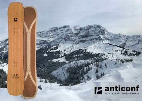 Environmentally Sustainable Snowboards - These Anticonf Sport Snowboards are Made Using Bamboo