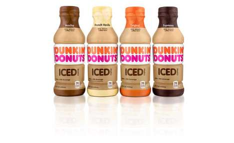 Prepackaged QSR Coffees - The Dunkin' Donuts Bottled Iced Coffee Beverages are High-Quality