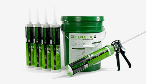 Noise-Proof Glue Compounds - The Green Glue Noiseproofing Compound Can Be Used to Soundproof Rooms