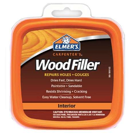 Solvent-Free Wood Fillers - Elmer's Carpenter's Wood Filler Can Be Used to Fix Holes and Gouges