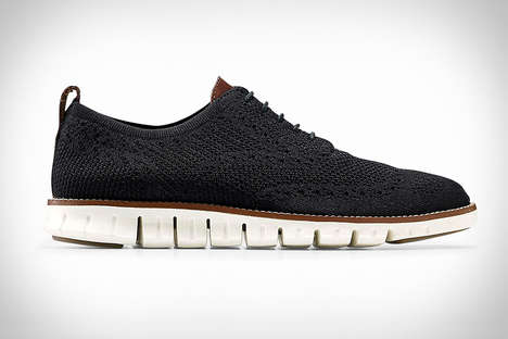 Stretchable Knit Dress Shoes - The Cole Haan ZeroGrand Stitchlite Wingtip Oxfords are Breathable