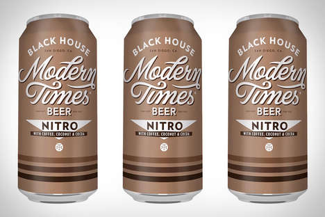 Coffee-Infused Beers - The Modern Times Black House Nitro Stout Has Coffee and Coconut Ingredients