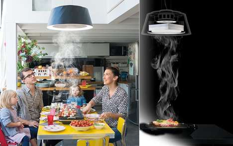 Air-Cleaning Pendant Lamps - The 'Cookiray BE' Removes Food Odors During Table Cooking