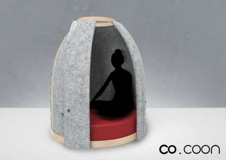 Soothing Privacy Office Pods - The 'Co COON' Creates a Private Office Space for Up to Two People