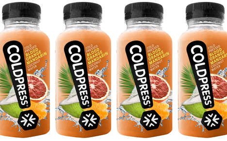 Cold-Pressed Fruity Coconut Drinks - The Coldpress Fruit-Flavored Coconut Waters are Low in Calories