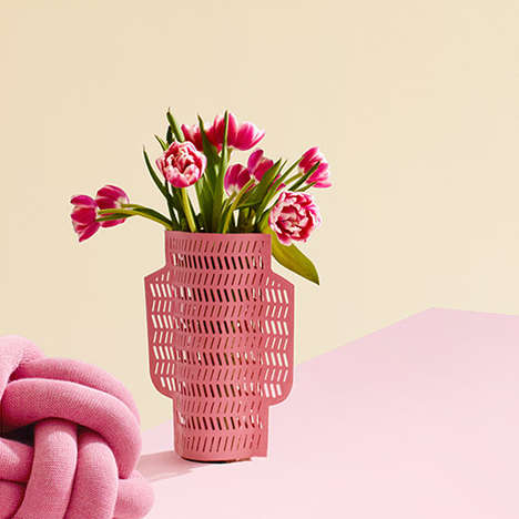 Water-Resistant Paper Vases - These Sleeves Offer a Unique Way to Dress Up Plain Water Vessels