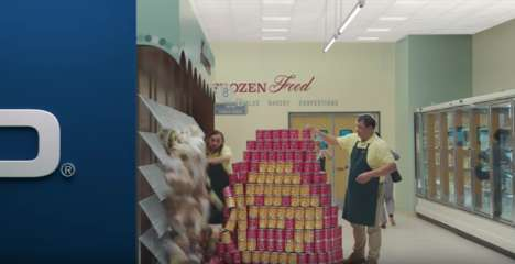 Condensed Pre-Roll Ads - This 15-Second Ad from Geico Features a Shrinking Supermarket Aisle