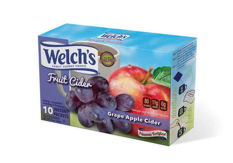 Single-Serve Fruit Ciders - Welch's and Two Rivers Coffee are Offering 80-Calorie Cider Mixes