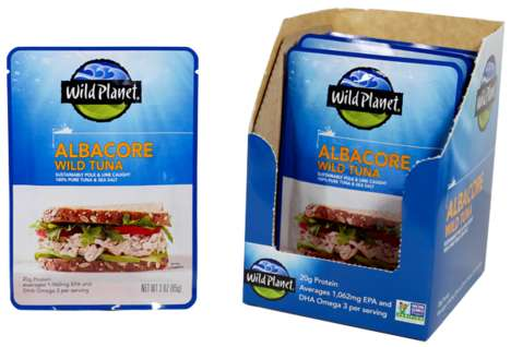Single-Serving Tuna Pouches - Wild Planet Tuna Comes in Sealed Pouches Rather than Cans
