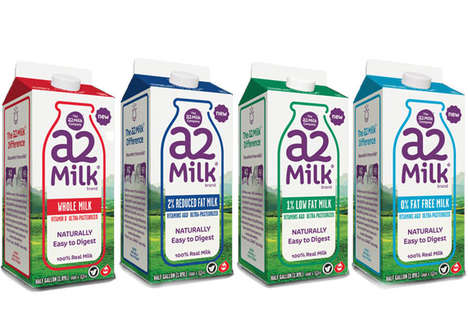Easily Digestible Milks - The A2 Milk Co. is Making It Easier for People to Digest Dairy Drinks