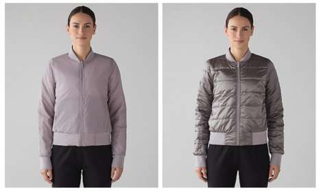 Reversible Bomber Jackets - Lululemon Recreated a Classic Bomber Jacket with a Focus on Versatility