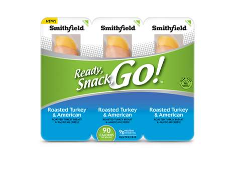 Pre-Portioned Deli Meat Snacks - Smithfield Foods' 'Ready, Snack, Go!' Line is Made for Portability