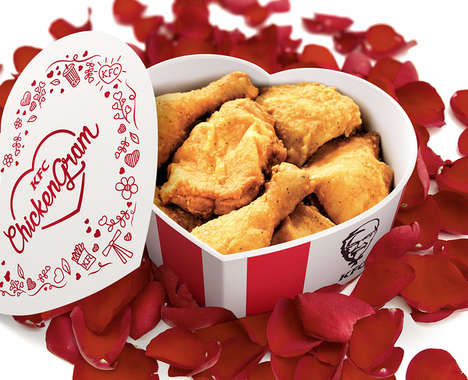 Heart-Shaped Chicken Containers