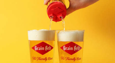 Dual-Pour Beer Caps - Grain Belt's Can Topper is a Romantic and Easy Way to Serve Drinks for Two