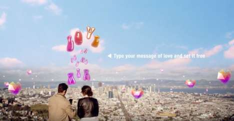 AR Love Messages - The 'Free the Love' App Shares Augmented Reality Balloon Letter Messages