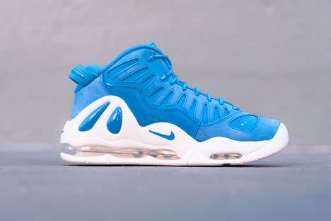 Water Droplet-Decorated Sneakers - The New Nike Air Max Uptempo 97s are a Bright Hue of Ocean Blue