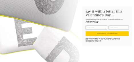 Personalized Pillow Campaigns - Eve Mattress is Giving People a Fun Way to Share Love on Valentine's