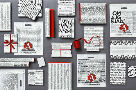 Illustrative Bookstore Gift Packaging - Akademibokhandeln is Building Its Brand Through Packaging