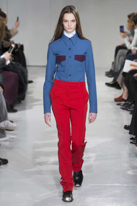 Collaborative Feminine Couture - Raf Simons' Calvin Klein Collection Offers Retro Structured Looks