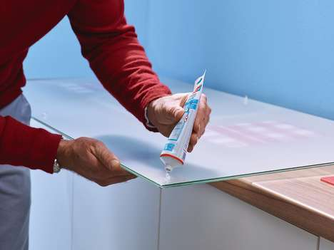 Glass-Mounting Glue Products - Tesa's Glass Glue Leaves Minimum Residue on Transparent Surfaces