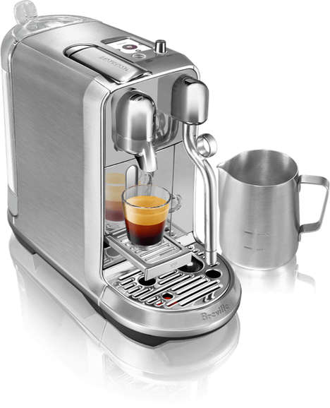 Cafe-Style Coffee Machines - The Nespresso Creatista Helps Coffee Drinkers Make Latte Art at Home