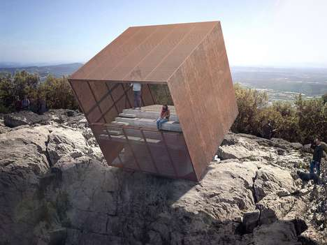 Vertiginous Viewing Stations - 'Tip-Box' Offers a Vertigo-Indusing View of the Mountains