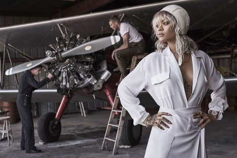 Aviation Pioneer Editorials - The Rihanna Harper's Bazaar Shoot Reflects Amelia Earhart