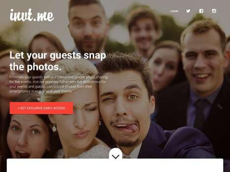Real-Time Event Photo Apps - 'invt.me' Lets Guests Broadcast Live Event Photos for Everyone to Enjoy