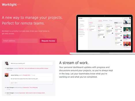 Remote Team Management Platforms - The 'Worklight' Project Management Tool Keeps Everyone Connected