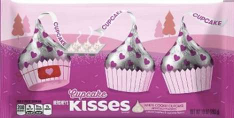 Cupcake-Flavored Chocolates - Hershey's New White Cookie Cupcake Kisses Celebrate Valentine's Day