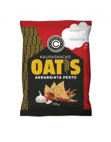 Pasta-Inspired Cracker Flavors - Oatis Arrabbiata Pesto Crackers are Made from Finnish Oats