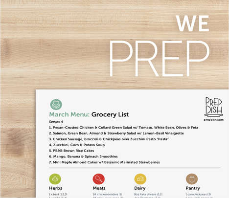 Meal Preparation Subscriptions - Prep Dish Takes the Stress Out of Healthy Eating for Consumers