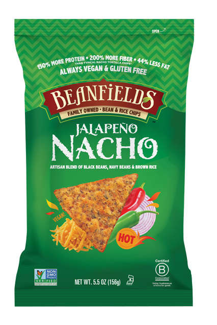 Nacho-Flavored Bean Chips - Beanfields' Jalapeño Nacho Chips are Bursting with Fiery Flavors