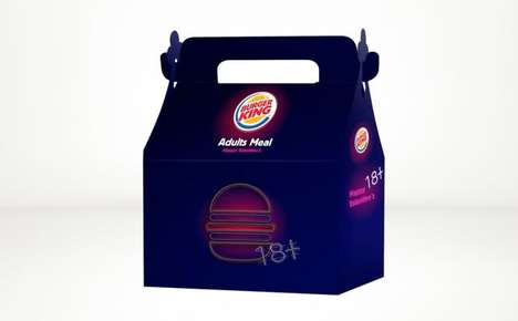 Adult Fast Food Boxes - Burger King Israel is Offering an 'Adult Meal' for Valentine's Day