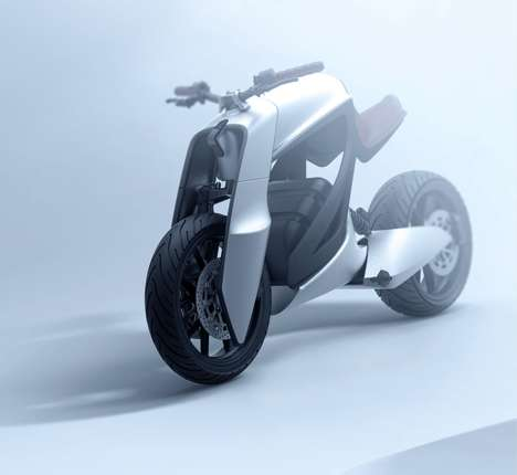Gorilla-Inspired Motorcycle Bikes - The 'Nazo' Motorcycle Leans Forward Like the Arms of a Gorilla