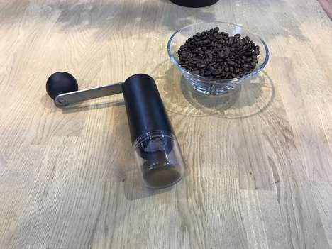 Modern Manual Coffee Grinders - The 'Columbia' Coffee Grinders Prepare Coffee Beans in Seconds
