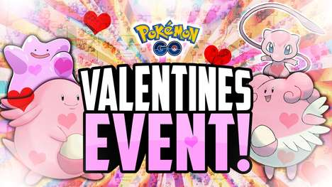 Romance-Themed Anime Game Updates - The Valentine's Pokémon GO Update Allows Players to Catch More