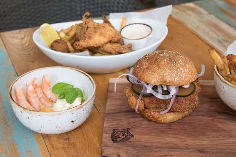 Pickle-Marinated Chicken Burgers - Fixe Restaurant Offers a Burger with Southern Inspirations