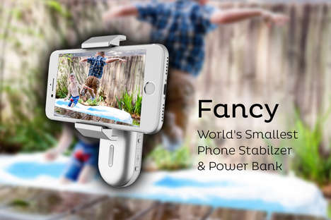 Charging Smartphone Stabilizers - 'Fancy' is the World's Smallest Phone Stabilizer and Power Bank